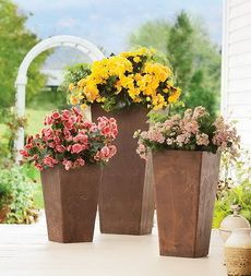 Sussex Self-Watering Frost-Proof Resin Planters