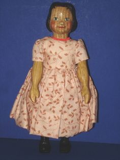 "Odaca Artist Ruth A Brown 6 1 4"" Wooden Hitty Doll 1997 