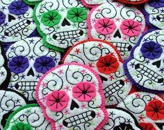 Day of the Dead Sugar Skull Jewellery Felt by TheDollCityRocker