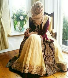 Latest Bridal Hijab Styles Dresses Designs Collection consists of Asian, desi fashion & Arabic fancy hijab dresses, gowns and frocks, maxis, etc Islamic Fashion, Muslim Fashion, Hijab Fashion, Indian Fashion, Fashion Dresses, Hijab Style Dress, Hijab Look, Hijab Chic, Pakistani Dresses