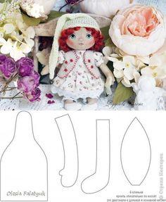 екстильТекстильная куколка автор кукоки: Елена Радулова автор выкройки: Olesia Falatyuk