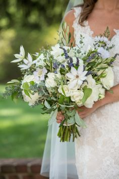 Organic lilac and greenery wedding bouquet: http://www.stylemepretty.com/2017/04/11/greenwich-country-club-wedding/ Photography: Melani Lust - http://www.melanilustphotography.com/