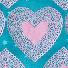 Shop Banner Avatar Set Etsy Heart Doily - OOAK Banners Custom Logo Professional - Valentine's Day, Starry Sky, Pink Heart, Blue Sky on Etsy, $12.95