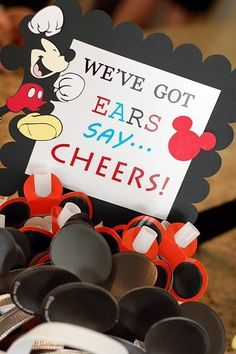Mickey Mouse ears for the guests to wear at the party if they want!