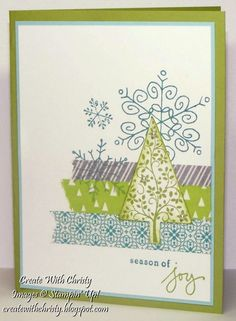 Stampin' Up! Festival of Trees and Endless Wishes - Create With Christy - Christy Fulk, Stampin' Up! Demo