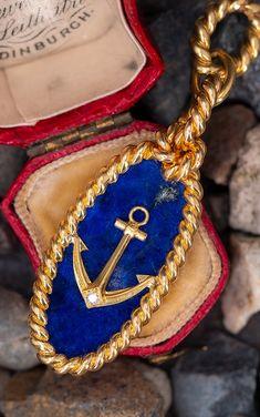 Van Cleef & Arpels Vintage Anchor Pendant Circa 1970'sn.nSku AD17250 Beautiful Girl Drawing, Lapis Lazuli Jewelry, Vintage Vans, Jewelry Design, Designer Jewelry, Emerald Jewelry, Van Cleef Arpels, Round Diamonds, Diamond Cuts