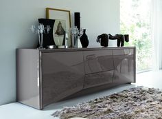 This Modern Buffet Is Sure To Add Style To Any Contemporary Dining Room.  #diningroom