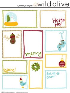 64 best Printable Christmas Gift Tags images on Pinterest ...