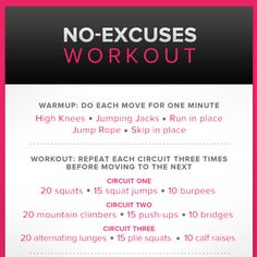 No Excuses Workout // You can do it! :) #fitness #training
