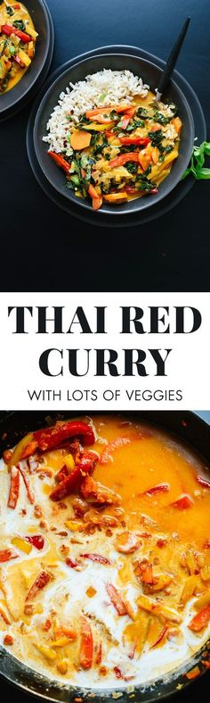 This veggie-packed red Thai curry recipe is just as good as your favorite Thai restaurant's! You're going to love it. Vegan and gluten free. cookieandkate.com