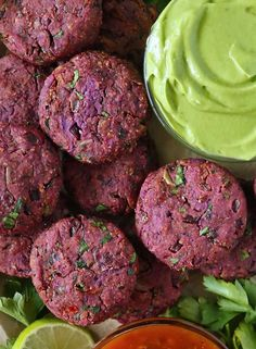 These Easy Baked Purple Sweet Potato Fritters are a fun & healthy side. They can masquerade as the 1-eyed purple people and a tasty side. Sweet Potato Fritters, Purple Sweet Potatoes, Best Comfort Food, Party Food And Drinks, Healthy Sides, Vegetable Sides, Dairy Free Recipes, Favorite Recipes, Yummy Food