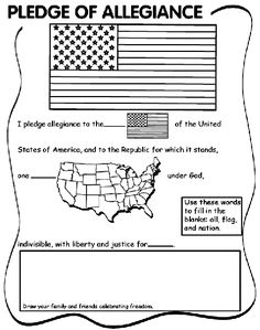 Pledge of Allegiance fill-in-the-blank and coloring page | crayola.com FREE