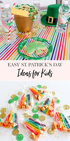 St Patricks Day is just a few days away! St Paddy's Day falls on a Saturday this year, which is the perfect excuse to invite a few littles over for a magical rainbow party! Gold Party Decorations, Party Themes, Party Ideas, Themed Parties, Jenny Cookies, St Patricks Day Crafts For Kids, St Paddys Day, Party Activities, Inspiration For Kids