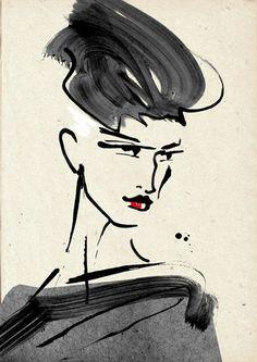 Margarete Gockel Illustration #MargareteGockel #FashionIllustration #AugustinTeboul #MercedesBenzFashionWeekBerlin