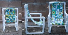 DIY Toddler Chairs {Made out of PVC Pipe}. My girls would go nuts. I told you I like PVC pipe. So versatile and cheap!