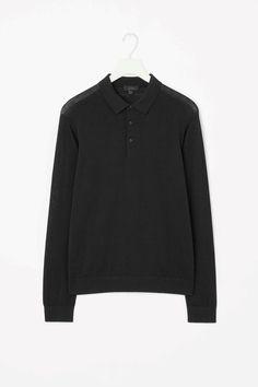 Silk cotton polo-neck