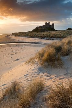 Northumberland coast line. Miles of unspoilt beach with Dunstanburgh Castle and Bamburgh. Landscape Photography, Travel Photography, Boudoir Photography, Fashion Photography, Nature Landscape, Beach Landscape, Watercolor Landscape, Beautiful Beaches, Beautiful Landscapes