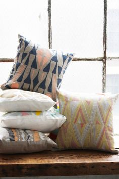 Poppytalk - The beautiful, the decayed and the handmade: Fall Collection from Leah Duncan Textiles, Textile Patterns, Textile Design, Home Decor Inspiration, Design Inspiration, Pillow Inspiration, Throw Pillow Covers, Throw Pillows, Grey Pillows