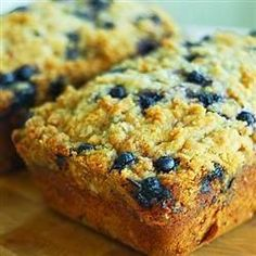 Blueberry Zucchini Bread - Blueberries and zucchini baked up into delicious little summertime bread loaves!.