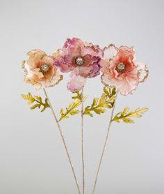 """Katherine's Collection Secret Garden Collection Twelve Assort 38"""" Large Embellished Magnolia Stems Free Ship"""
