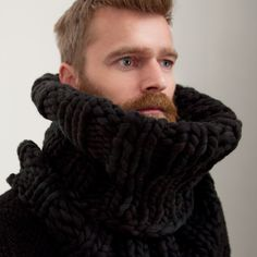ribbed snood hand knitted hand dyed