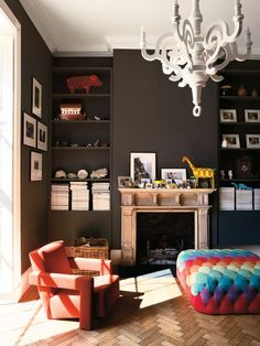 Dare we try this bold darker color in Jeremy's room...he has the lighting for it...hmmmm...