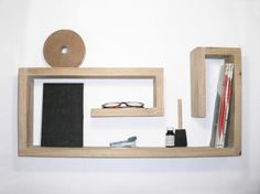 wooden shelf made of salvaged wood