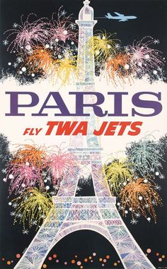 TWA travel poster by David Klein from the 1960s