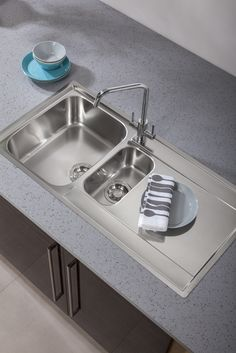 Bushboard S Encore Solid Surface In Pebble Gl Shown With Franke Maris Mrx251 Slimtop Sink And