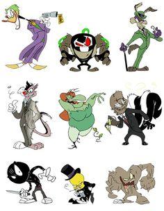Comics in Greece: Looney Tunes σαν Batman Villains! Looney Tunes Characters, Classic Cartoon Characters, Looney Tunes Cartoons, Old Cartoons, Classic Cartoons, Cartoon Art, Bugs Bunny Drawing, Batman Fan Art, Drawn Art
