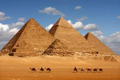 Grandes Pirâmides, Cairo, Egito.