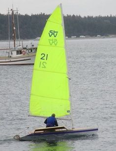 The Zest is a single-handed racing dinghy with a plywood hull and comfortable sitting-out wings