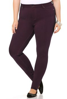 Ponte Legging Jean-Plus Size Pant-Avenue