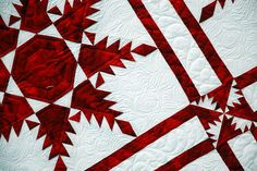 Viewed at Baltimore/Washington International Thurgood Marshall Airport - Stunning red and white quilt!