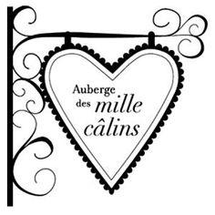 Florilèges Design - Tampon bois - Mille câlins - 6,4 x 6,4 cm
