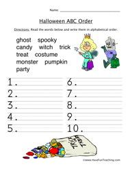 best holidays images  have fun teaching earth day  halloween abc sorting worksheet social studies worksheets teacher  worksheets halloween worksheets halloween activities