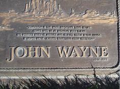 John Wayne - Find A Grave Memorial John Wayne Quotes, John Wayne Movies, Old Cemeteries, Graveyards, Iowa, In Loving Memory Quotes, Famous People In History, Cemetery Monuments, Famous Graves
