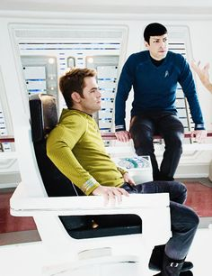 """The Final Frontier<Ok, I know this is probably Zachary but for a second the only thing I could think was """"The heck is doing Spock up there?"""""""