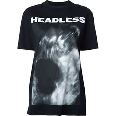 Hood By Air 'Headless' T-shirt featuring polyvore, women's fashion, clothing, tops, t-shirts, black, hood by air tee, hood by air, hood by air t shirt, cotton tee and cotton t shirts