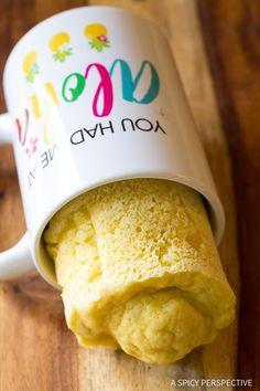 Easy Low Carb Magic Mug Bread Recipe - Paleo, Ketogenic, Grain Free, Gluten Free, Sugar Free, Dairy Free!