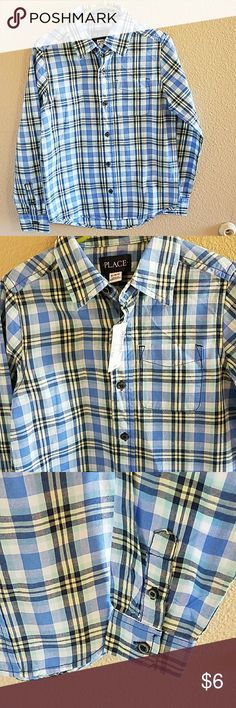 Children's Place NWT Boys Plaid Button Up Shirt Handsome NWT Boys Children's Place Button Plaid Button Up Shirt Size Small 5/6 Children's Place Shirts & Tops Button Down Shirts