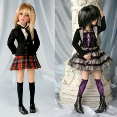 Delilah Noir Debut doll, aka Top That, outfits only. Both full outfits except for the black wig which is fine by me, I have plenty of better wigs.