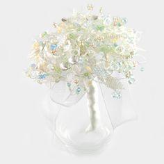 Beach crystal wedding bouquet