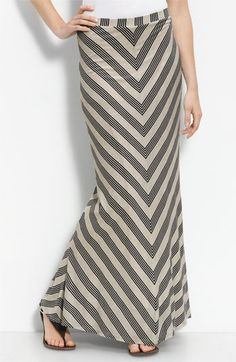 Love this chevron maxi skirt #black #cream - sold out right this minute.