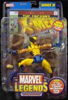 MARVEL LEGENDS-WOLVERINE-COMIC BOOK-MOUNTABLE-DISPLAY STAND-30 PTS ARTICULATION! #TOYBIZ