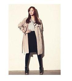 Women Comfy Stylish Korean Style Long Trench Coats Belt Windbraker Jackets S-XXL