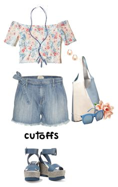 """""""Summer Staple: Denim Cutoffs"""" by lence-59 ❤ liked on Polyvore featuring Grey Ant, Current/Elliott, Hollister Co., Chico's, Lucky Brand and DENIMCUTOFFS"""