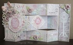 Good Friends Tri - Shutter card designed by Marisa Job using SPring Rose Medallions and Spread Your Wings