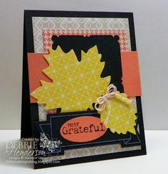 Card made with Stampin' Up!'s Thankful Tablescape Simply Created Kit by Debbie Henderson, Debbie's Designs.
