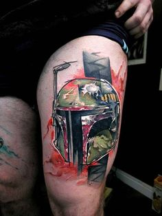 Star Wars Boba Fett Tattoo Design by Uncl Paul Knows